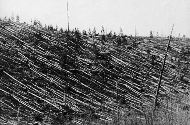 Vụ thiên thạch đâm vào Trái đất năm 1908 có sức công phá tương đương bao tấn thuốc nổ TNT?