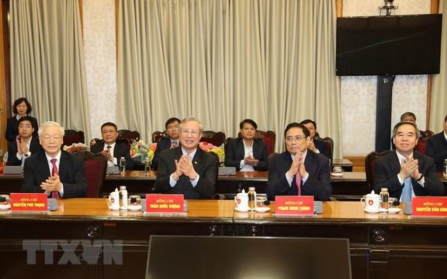Hình ảnh lễ công bố quyết định phân công Ủy viên Bộ Chính trị ảnh 1