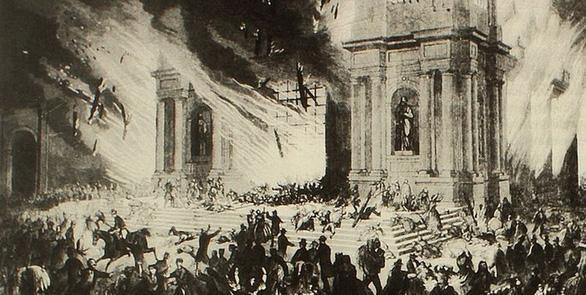 Trận hỏa hoạn ở nhà thờ Companía de Jesus, thành phố Santiago (Chile) năm 1863 là do điều gì?
