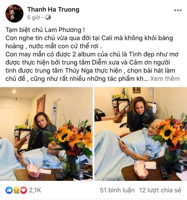 Nghệ sĩ Việt tiếc thương trước sự ra đi của cố nhạc sĩ Lam Phương ảnh 1