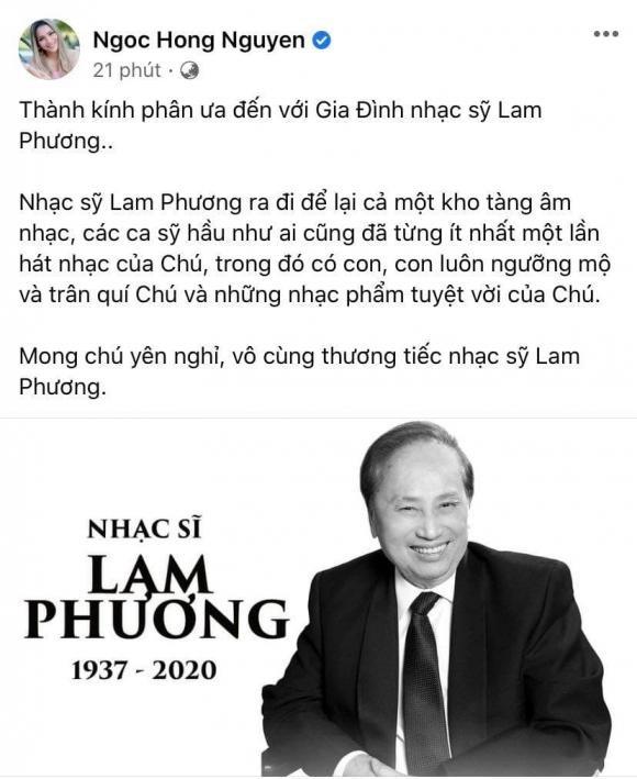 Nghệ sĩ Việt tiếc thương trước sự ra đi của cố nhạc sĩ Lam Phương ảnh 2