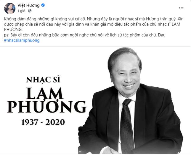 Nghệ sĩ Việt tiếc thương trước sự ra đi của cố nhạc sĩ Lam Phương ảnh 3