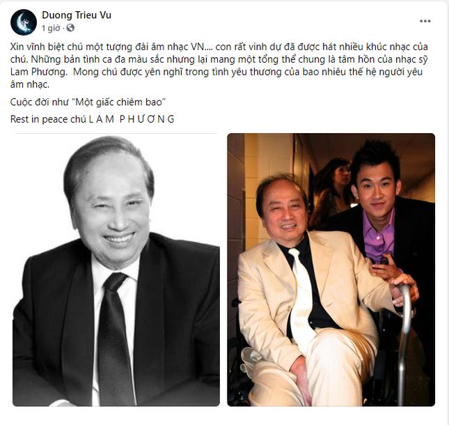 Nghệ sĩ Việt tiếc thương trước sự ra đi của cố nhạc sĩ Lam Phương ảnh 4