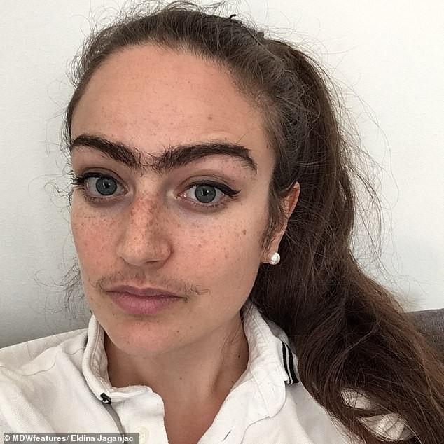Cô gái người Đan Mạch để râu, không cạo lông mày vì lý do gây bất ngờ ảnh 1