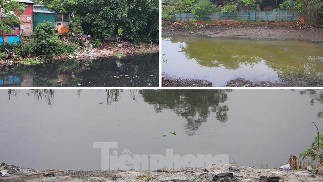 Cận cảnh những dòng sông 'đen' chảy giữa nội thành Hà Nội ảnh 12