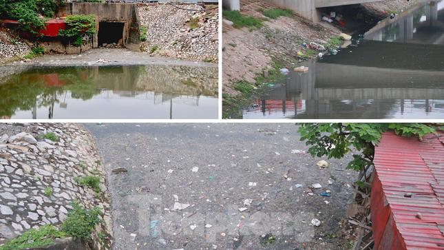 Cận cảnh những dòng sông 'đen' chảy giữa nội thành Hà Nội ảnh 8