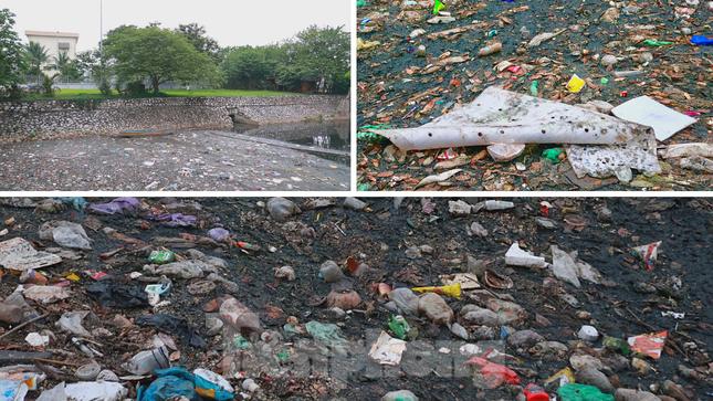 Cận cảnh những dòng sông 'đen' chảy giữa nội thành Hà Nội ảnh 4