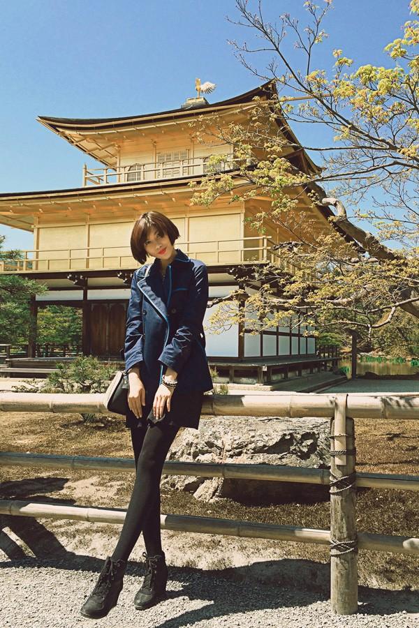 Trang Lạ, Phan Anh tình tứ đi thăm thú Nhật Bản ảnh 10