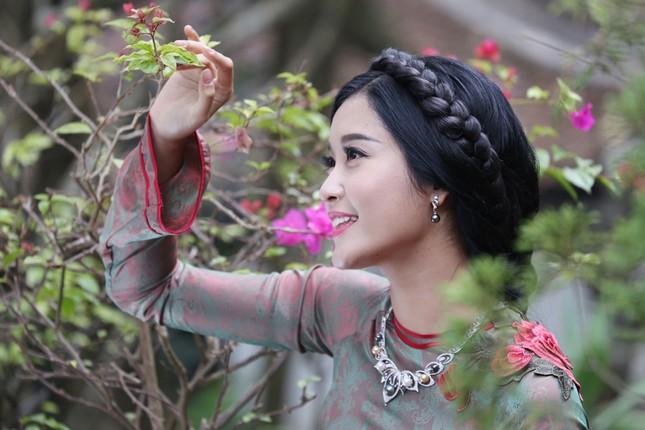 Á hậu Huyền My đẹp nền nã với áo dài du xuân ảnh 6