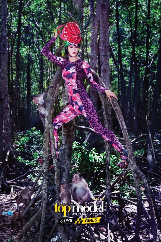 Thí sinh Next Top Model sợ hãi khi chụp ảnh với khỉ ảnh 12