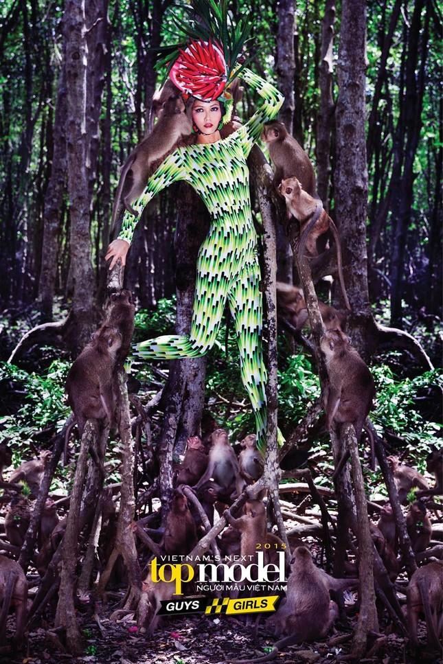 Thí sinh Next Top Model sợ hãi khi chụp ảnh với khỉ ảnh 4