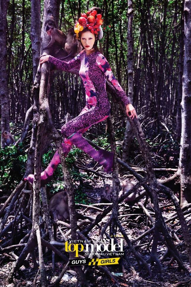 Thí sinh Next Top Model sợ hãi khi chụp ảnh với khỉ ảnh 9