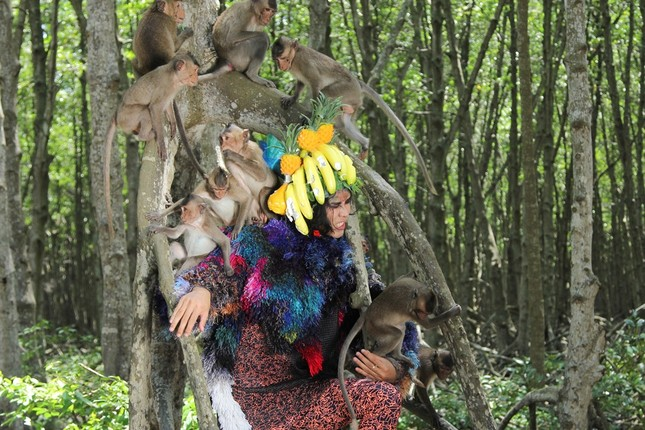 Thí sinh Next Top Model sợ hãi khi chụp ảnh với khỉ ảnh 2