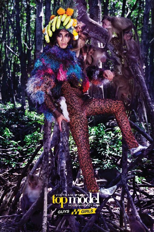 Thí sinh Next Top Model sợ hãi khi chụp ảnh với khỉ ảnh 16