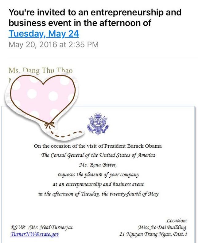 Hoa hậu Thu Thảo háo hức được diện kiến ông Obama ảnh 3