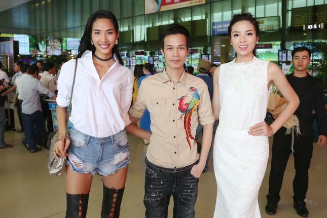 Kỳ Duyên ra sân bay đón Hoa hậu Pháp ảnh 2