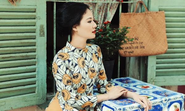 Trần Thị Quỳnh hoá thiếu nữ Sài Gòn xưa với áo dài ảnh 6