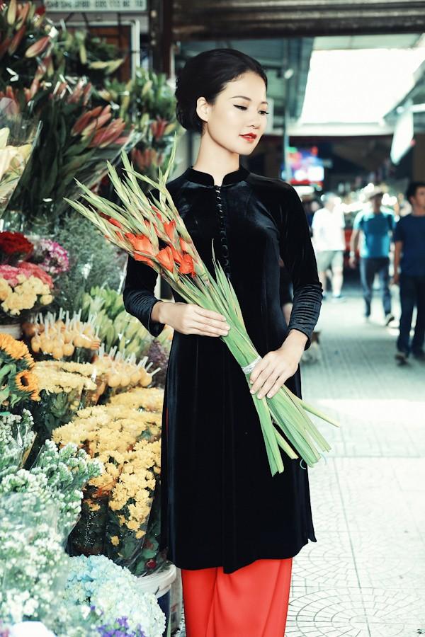 Trần Thị Quỳnh hoá thiếu nữ Sài Gòn xưa với áo dài ảnh 8