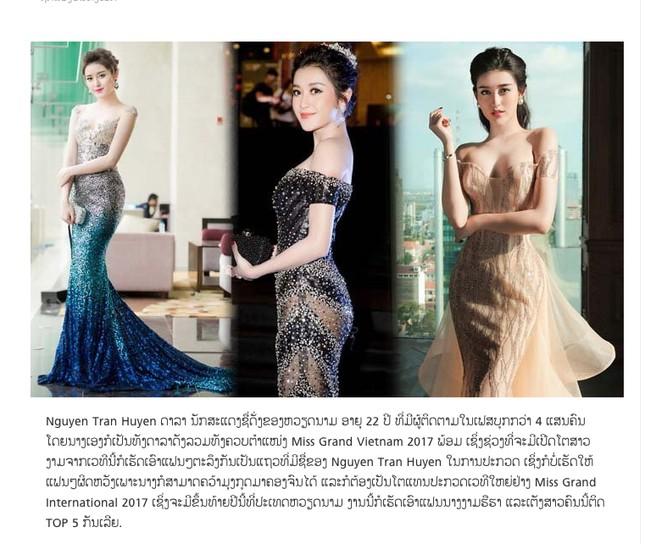 Báo Lào và Campuchia liên tục đăng bài về Huyền My ảnh 6