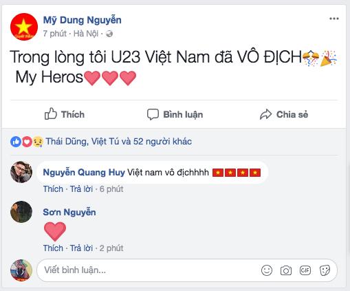 Dàn Hoa, Á hậu thốt lời yêu thương, tự hào về 'người hùng' U23 Việt Nam ảnh 14