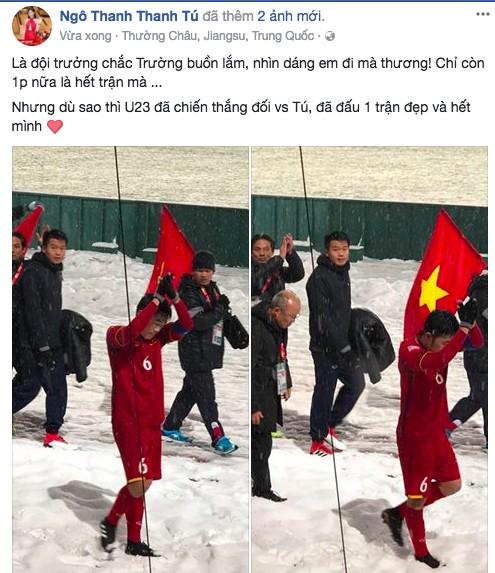 Dàn Hoa, Á hậu thốt lời yêu thương, tự hào về 'người hùng' U23 Việt Nam ảnh 9
