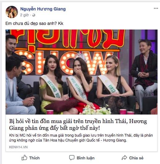 Hương Giang gợi nhớ màn ứng xử của Phi Thanh Vân trên truyền hình Thái ảnh 2