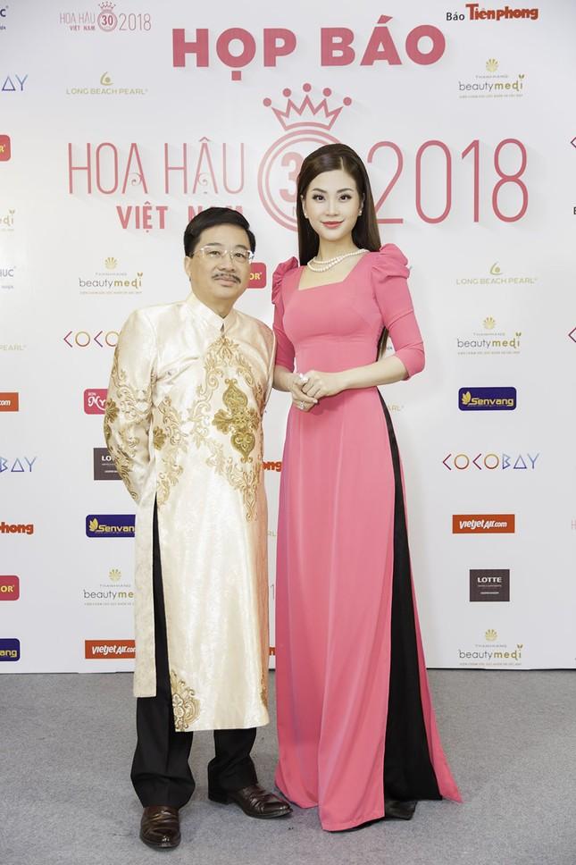 Dàn người đẹp khoe sắc tại buổi họp báo Hoa hậu Việt Nam 2018 ảnh 9