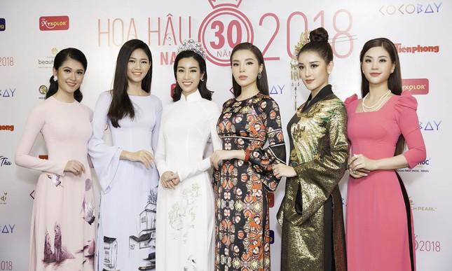 Dàn người đẹp khoe sắc tại buổi họp báo Hoa hậu Việt Nam 2018 ảnh 1