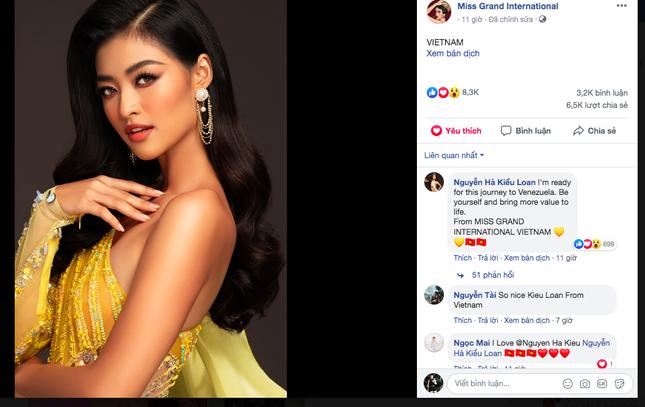 Ảnh chân dung Á hậu Kiều Loan nhận bình chọn 'khủng' trên trang chủ Miss Grand ảnh 1