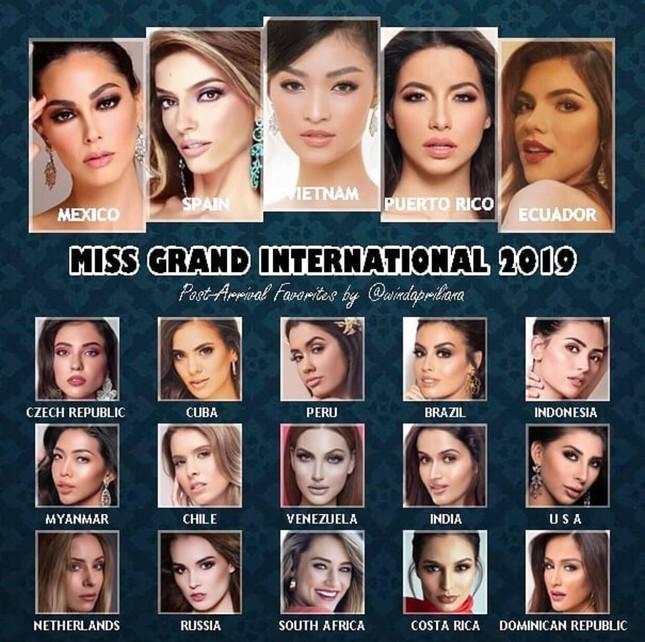 Á hậu Kiều Loan chễm chệ trên 21 bảng xếp hạng trước chung kết Miss Grand ảnh 8