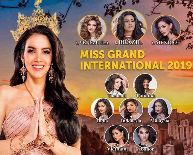 Á hậu Kiều Loan chễm chệ trên 21 bảng xếp hạng trước chung kết Miss Grand ảnh 10