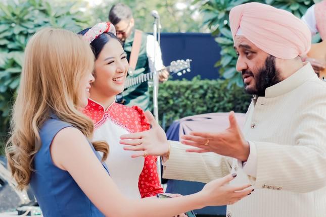 Hoa hậu Ngọc Hân, Á hậu Phương Nga dự đám cưới con gái của đại gia Ấn Độ ảnh 5