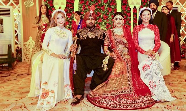 Hoa hậu Ngọc Hân, Á hậu Phương Nga dự đám cưới con gái của đại gia Ấn Độ ảnh 9