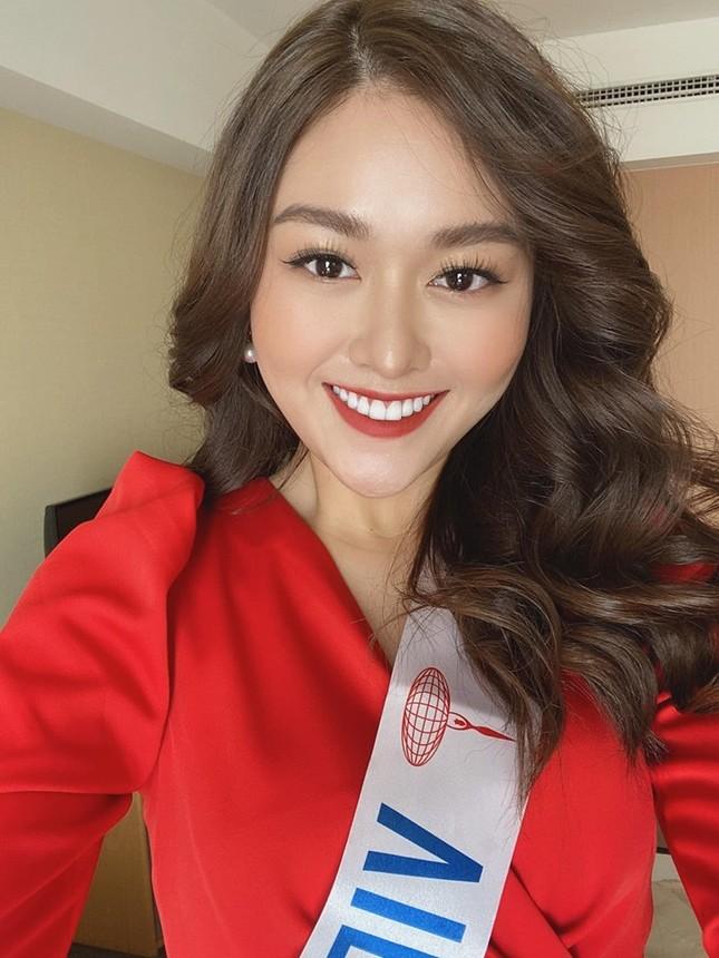 Tường San tự make-up đẹp tựa 'nữ thần' ở Hoa hậu quốc tế khiến fan thán phục ảnh 2