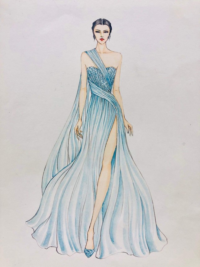 Lương Thuỳ Linh mặc váy xẻ khoe chân dài 'trứ danh' 1m22 ở phần thi Top Model ảnh 2