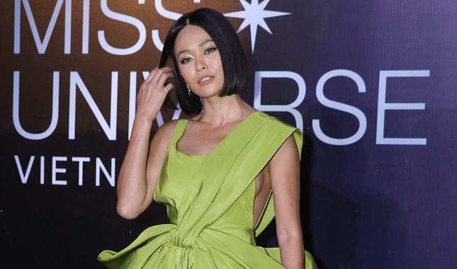 Mâu Thuỷ, Thanh Hằng nóng bỏng trên thảm đỏ chung kết Hoa hậu Hoàn vũ Việt Nam ảnh 4