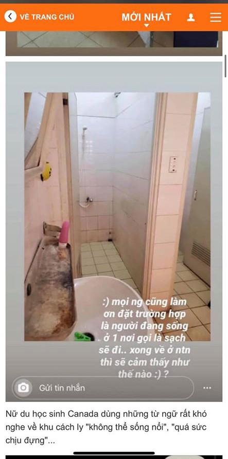 Nữ du học sinh Canada chê khu cách ly bẩn thỉu, Võ Hoàng Yến nói lời thấm thía ảnh 3