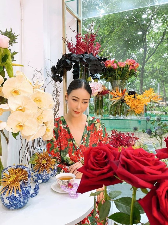Hoa hậu Đặng Thu Thảo lần đầu lộ diện xinh đẹp sau khi sinh con thứ hai ảnh 11