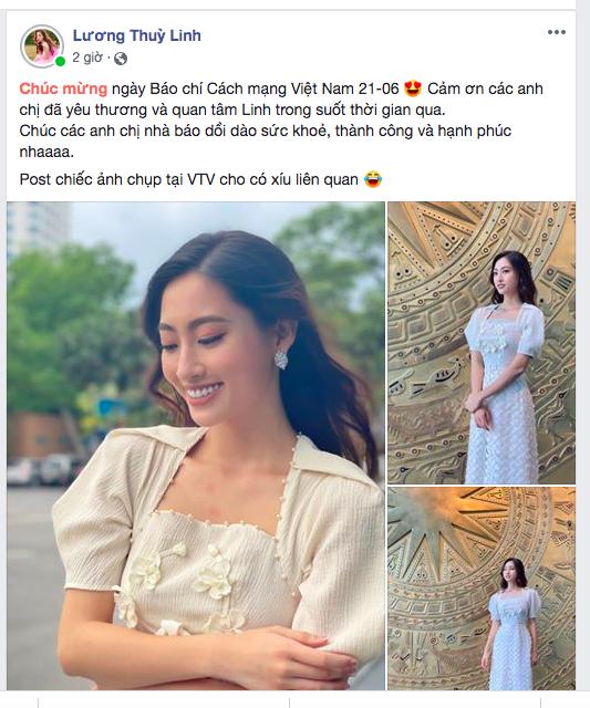 Dàn Hoa hậu, Á hậu đăng ảnh áo dài trắng gửi lời chúc mừng ngày Báo chí CMVN 21/6 ảnh 3
