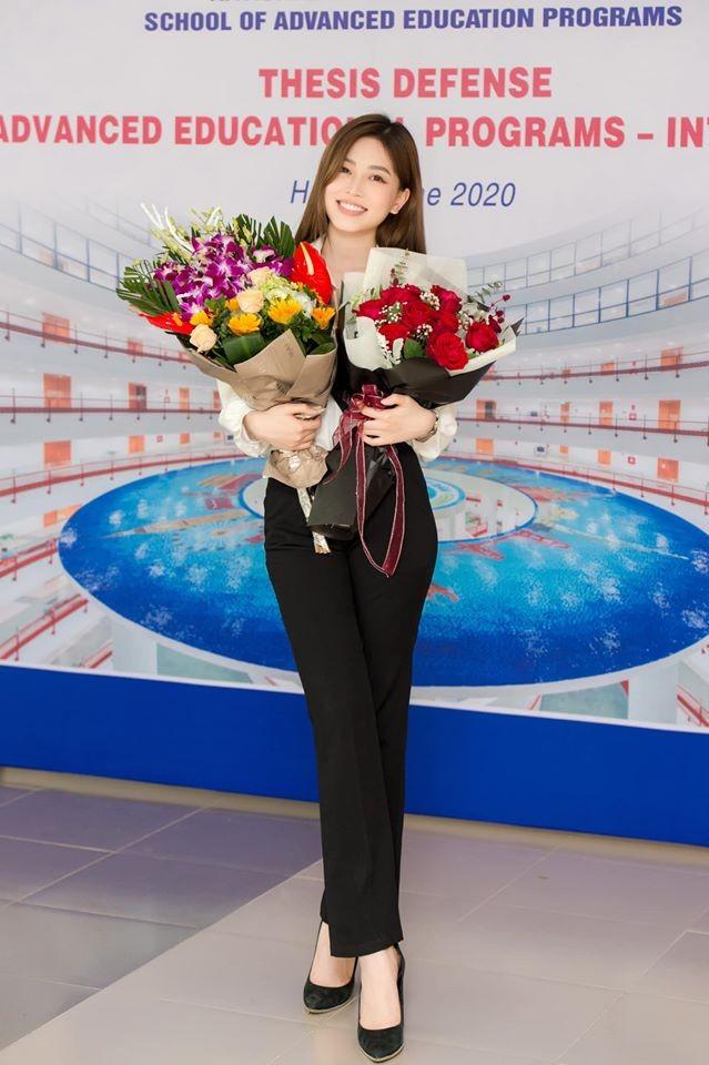 Đạt điểm tốt nghiệp cao ngất, á hậu Phương Nga bật mí dự định và sẽ cưới Bình An? ảnh 2