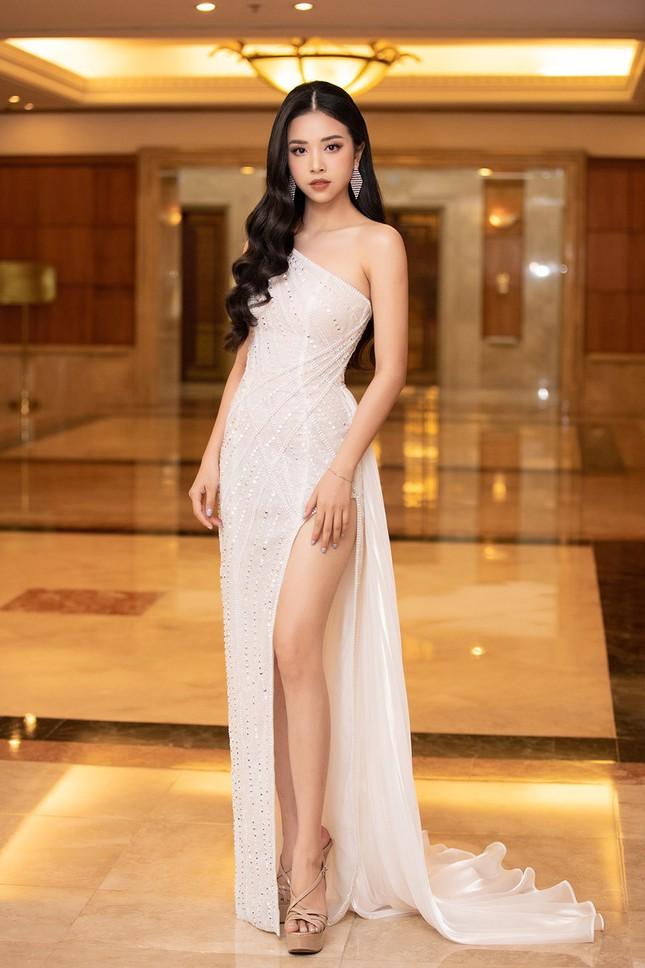 Dàn Hoa hậu, Á hậu lộng lẫy khoe sắc trên thảm đỏ họp báo Hoa hậu Việt Nam 2020 ảnh 5