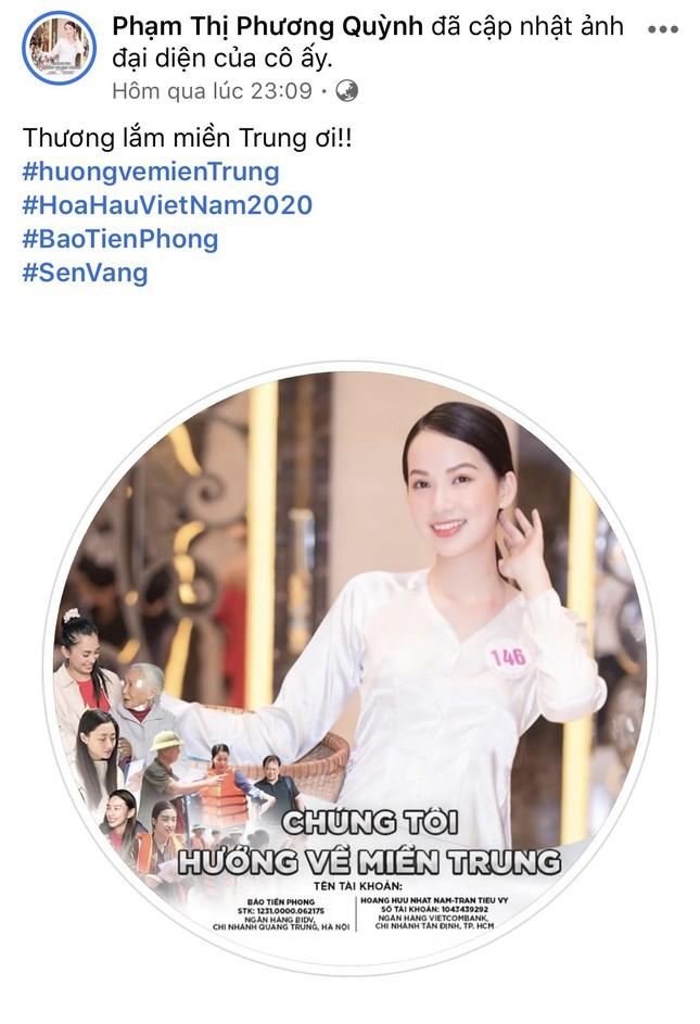 Thí sinh HHVN 2020 chia sẻ đầy xúc động, đồng loạt thay avatar hướng về miền Trung ảnh 10