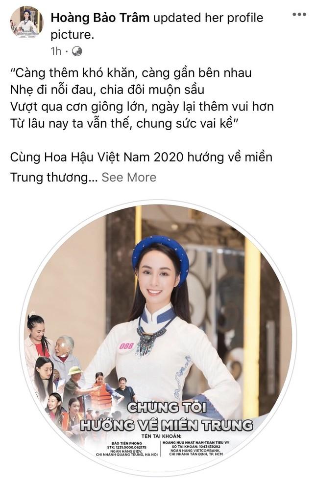 Thí sinh HHVN 2020 chia sẻ đầy xúc động, đồng loạt thay avatar hướng về miền Trung ảnh 17