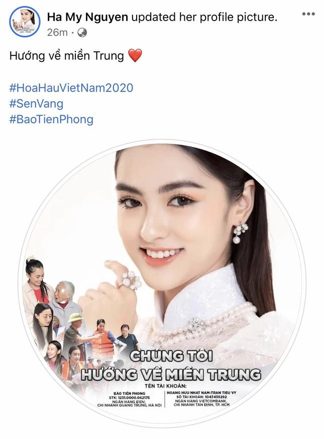 Thí sinh HHVN 2020 chia sẻ đầy xúc động, đồng loạt thay avatar hướng về miền Trung ảnh 22