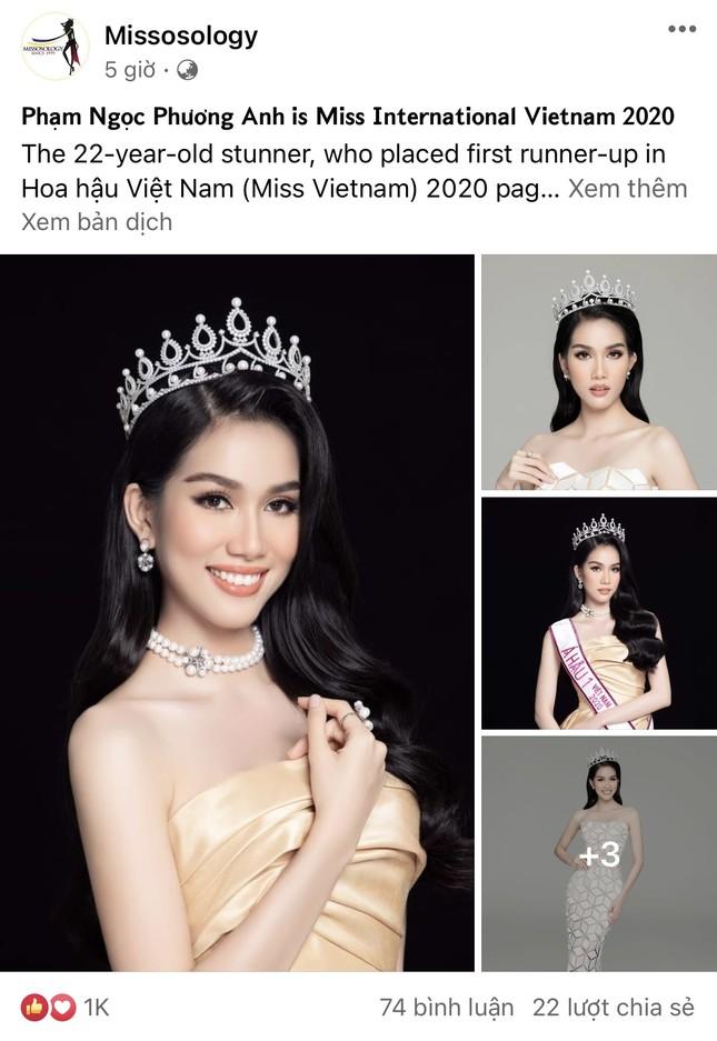 Á hậu Phương Anh 'gây bão' khi ra mắt với vai trò Hoa hậu Quốc tế VN 2021 trên Misssology ảnh 1