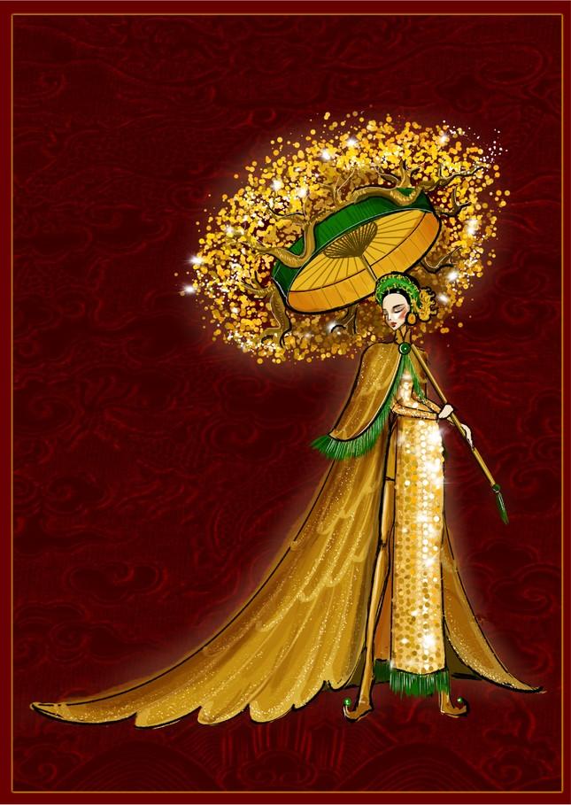 Hé lộ trang phục dân tộc của Á hậu Ngọc Thảo đem đến Miss Grand International 2020 ảnh 2