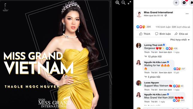 Vừa tới Thái Lan, Á hậu Ngọc Thảo lọt top 10 thí sinh được yêu thích nhất Miss Grand 2021 ảnh 1