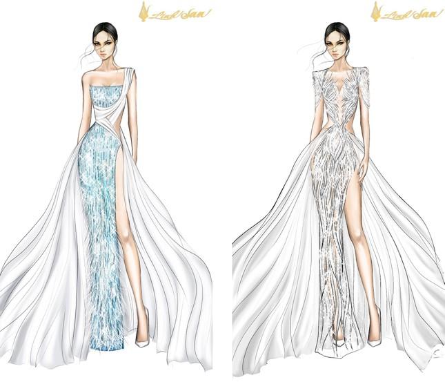 Lộ diện váy dạ hội lộng lẫy mang thông điệp hòa bình của Ngọc Thảo tại Miss Grand 2021 ảnh 3