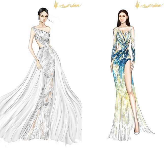 Lộ diện váy dạ hội lộng lẫy mang thông điệp hòa bình của Ngọc Thảo tại Miss Grand 2021 ảnh 6