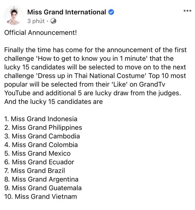 Á hậu Ngọc Thảo lọt top 10 bình chọn video giới thiệu bản thân tại Miss Grand 2021 ảnh 1